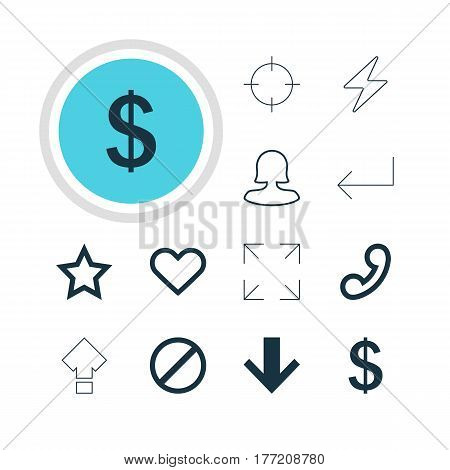 Vector Illustration Of 12 User Icons. Editable Pack Of Access Denied, Accsess, Money Making And Other Elements.