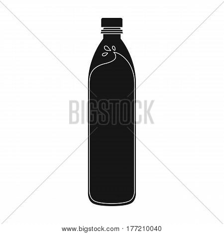 A bottle of water. Water to cool the bicyclist while riding.Cyclist outfit single icon in black style vector symbol stock web illustration.