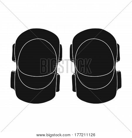 Protective elbow pads for cyclists. Protection for athletes.Cyclist outfit single icon in black style vector symbol stock web illustration.