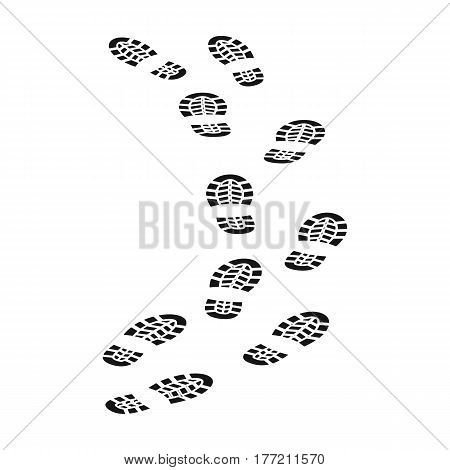 Steps of the criminal. The criminal escaped from prison.Prison single icon in black style vector symbol stock web illustration.