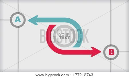 Flowchart template - abstract illustration with copy paste area