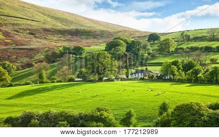 Beautiful spring landscape in Lake District National Park, Cumbria, England, UK.