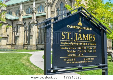View at Cathedral church of St. James in Toronto City Ontario province Canada