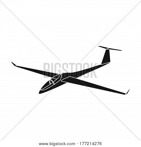 The orange fighter. High speed airplane for one person.Transport single icon in black style vector symbol stock web illustration.