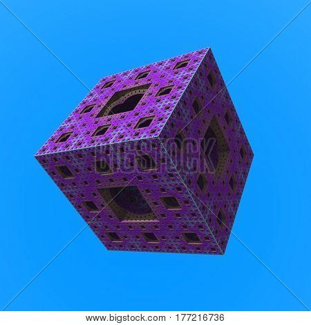 3d render. Cube with tech patterns.   3d render.