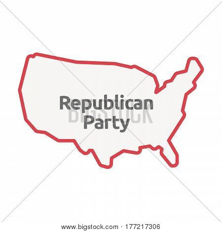 Isolated Usa Map With  The Text  Republican  Party