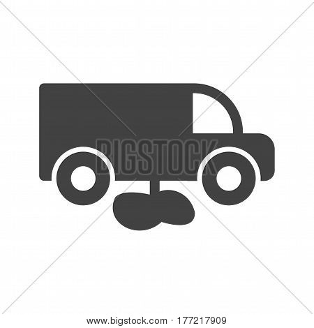Truck, fuel, leak icon vector image. Can also be used for disasters. Suitable for mobile apps, web apps and print media.