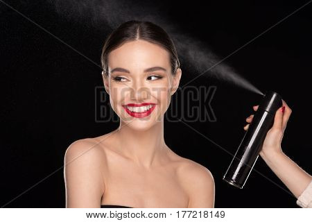 Pretty Woman With Hairspray