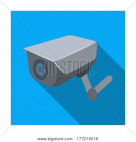 CCTV camera in the prison. The system of monitoring the jailers.Prison single icon in flat style vector symbol stock web illustration.