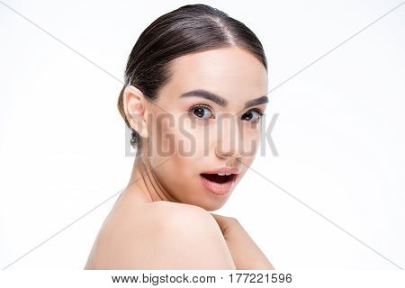 Beautiful Woman Looking At Camera