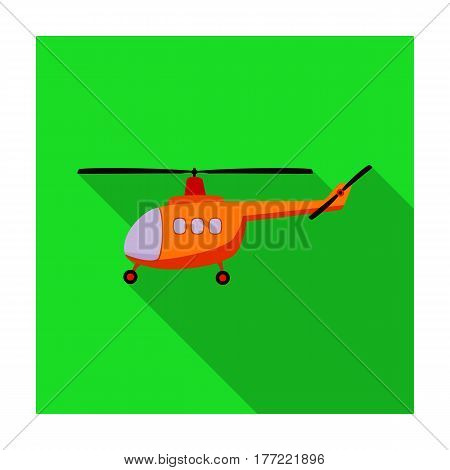 Air transport helicopter. Transport with blades.Transport single icon in flat style vector symbol stock web illustration.