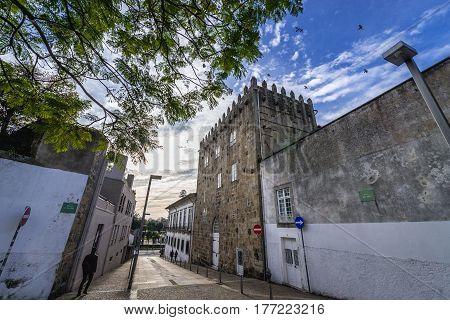 Pedro Sem medieval tower in Porto city in Portugal