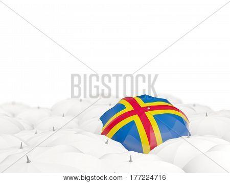 Umbrella With Flag Of Aland Islands