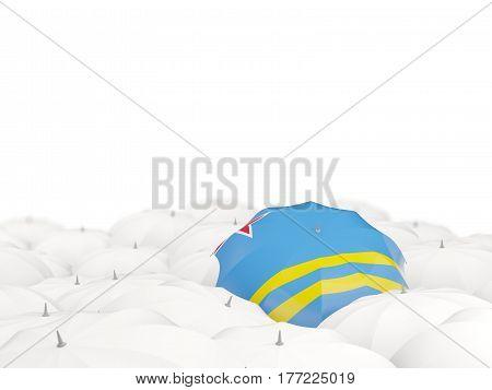 Umbrella With Flag Of Aruba