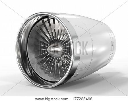 Jet Engine On White Background