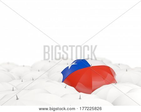 Umbrella With Flag Of Chile
