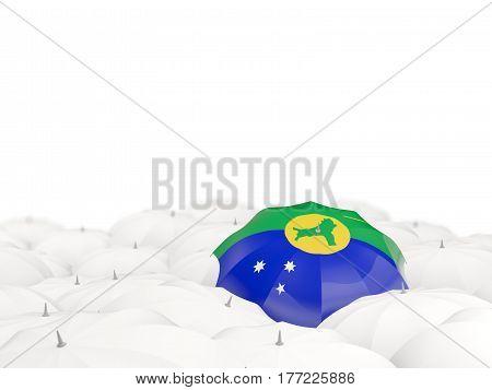 Umbrella With Flag Of Christmas Island