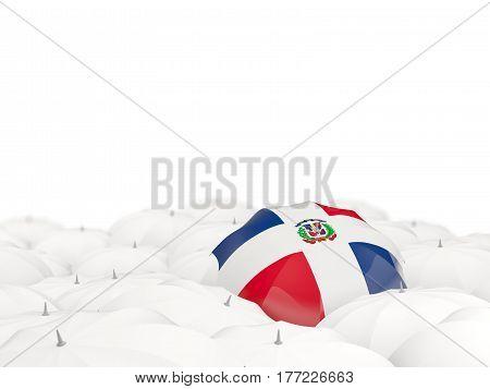 Umbrella With Flag Of Dominican Republic
