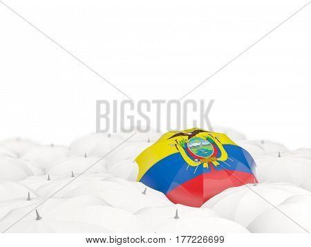 Umbrella With Flag Of Ecuador
