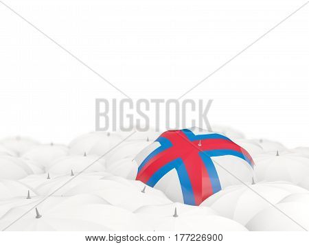 Umbrella With Flag Of Faroe Islands