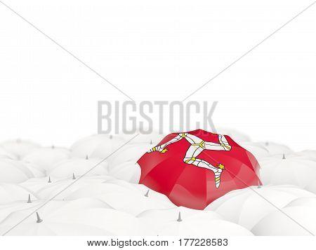 Umbrella With Flag Of Isle Of Man