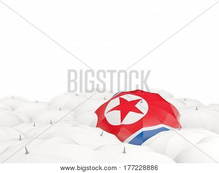 Umbrella With Flag Of Korea North