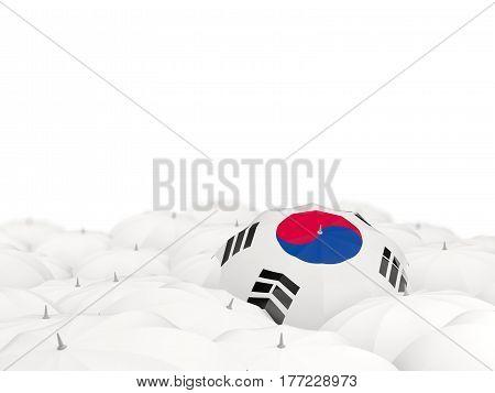 Umbrella With Flag Of Korea South