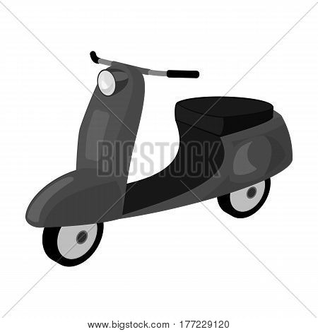 Blue two wheeled scooter. Transport for moving around the city.Transport single icon in monochrome style vector symbol stock web illustration.