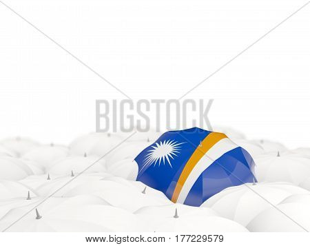 Umbrella With Flag Of Marshall Islands