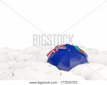 Umbrella With Flag Of Montserrat