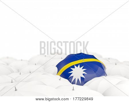 Umbrella With Flag Of Nauru