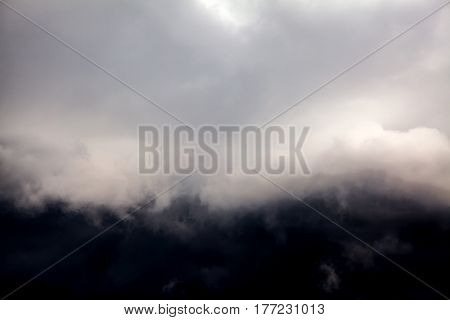 The Blurred Abstract Background of Dramatic Clouds