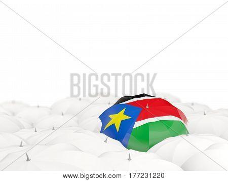Umbrella With Flag Of South Sudan