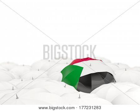 Umbrella With Flag Of Sudan