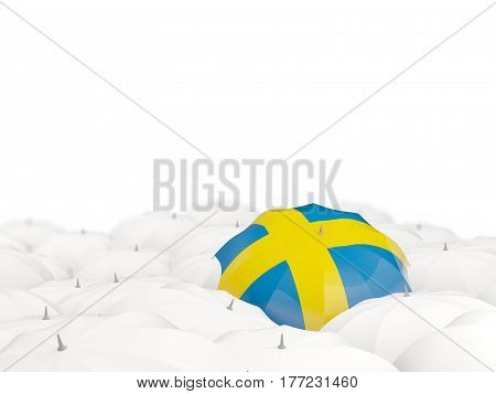 Umbrella With Flag Of Sweden