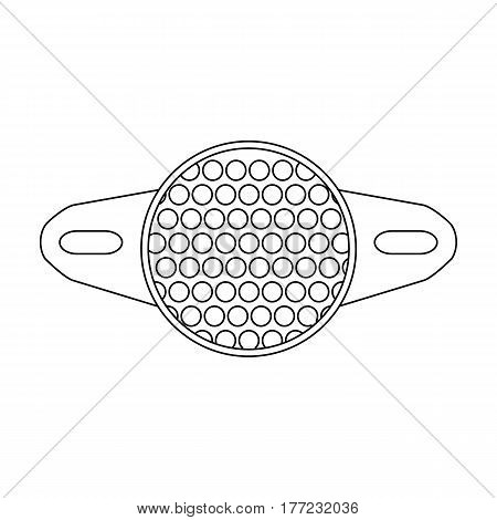 Reflector for cyclists. Icon for better visibility on the road.Cyclist outfit single icon in outline style vector symbol stock web illustration.