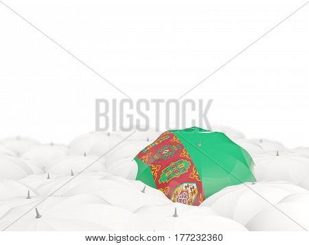 Umbrella With Flag Of Turkmenistan