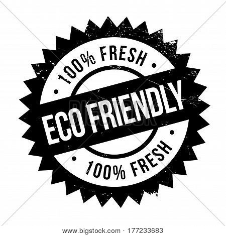 Eco friendly stamp. Grunge design with dust scratches. Effects can be easily removed for a clean, crisp look. Color is easily changed.