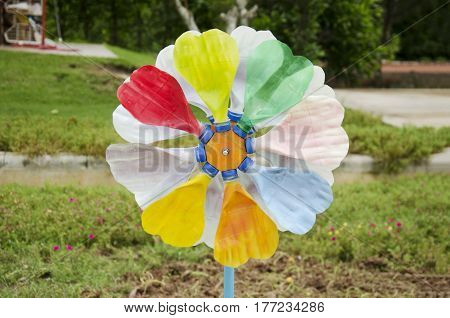 Colorful Pinwheel And Windmill Toy