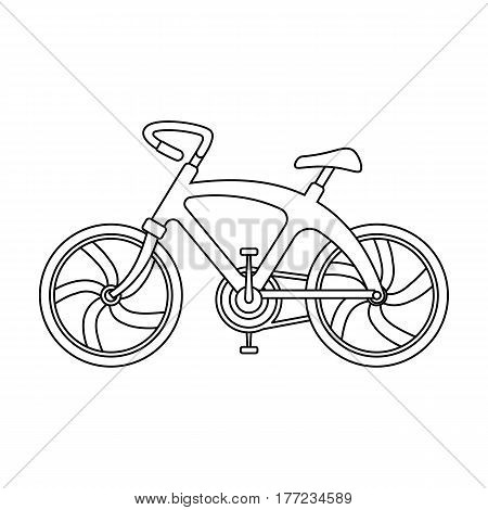 A sports bike for a quick ride down the road. Bicycle ecological economical transport.Transport single icon in outline style vector symbol stock web illustration.