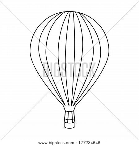 Air balloon for walking. Transport works on warm air. Transport single icon in outline style vector symbol stock web illustration.