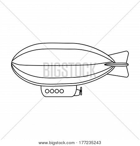 Airship, air transport for travel.Transport single icon in outline style vector symbol stock web illustration.