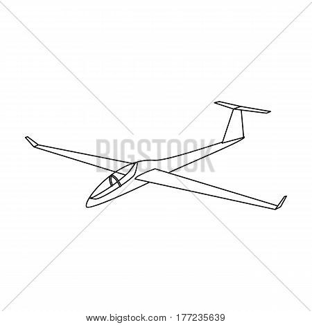 The orange fighter. High speed airplane for one person.Transport single icon in outline style vector symbol stock web illustration.