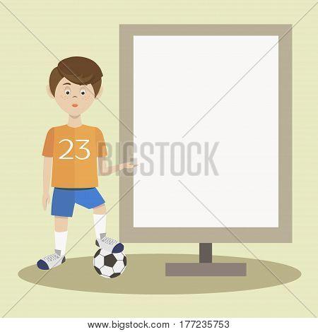 Football player silhouette. Vector illustration EPS 10