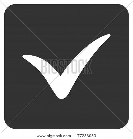 Approve Box vector icon. Flat gray symbol. Pictogram is isolated on a white background. Designed for web and software interfaces.