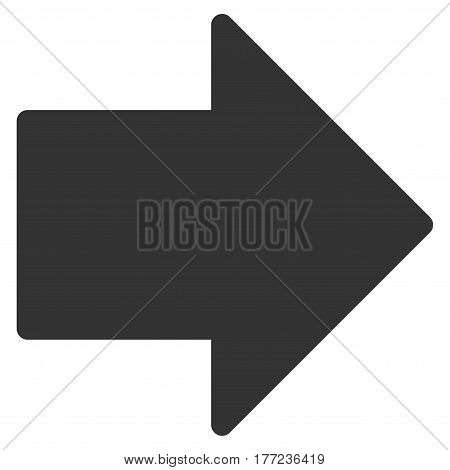 Arrow Right vector icon. Flat gray symbol. Pictogram is isolated on a white background. Designed for web and software interfaces.