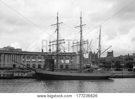 Ss Great Britain Ship In Bristol In Black And White
