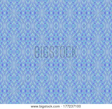 Abstract geometric seamless retro background. Regular ellipses and diamond pattern light blue and purple, ornate and extensive.