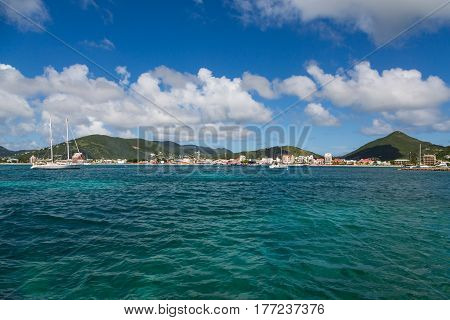 Deep Green Sea Off Coast of St Maarten
