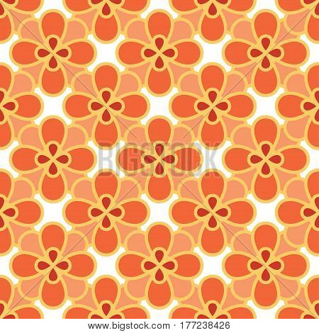 Art abstract flower seamless pattern. Vector illustration